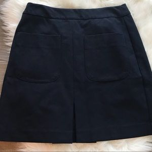 LOFT Skirt Womens 10 Tall A Line Navy Blue